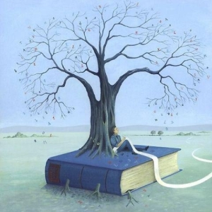 albero che nasce da un libro